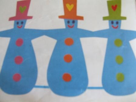 Guirlande de bonhomme de neige - Guirlande papier bonhomme ...