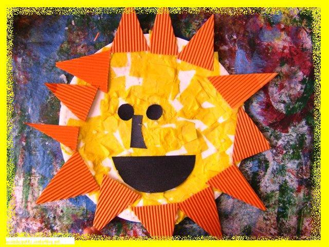 Mosa que d 39 un soleil avec colle faite maison - Colle faite maison ...