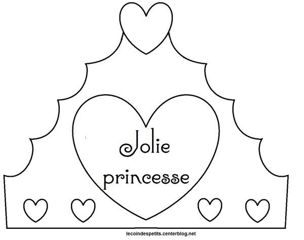 Couronne princesse 1 - Dessin couronne princesse ...