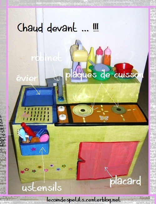Fabriquer une cuisine en carton pour enfant fin for Fabriquer cuisine enfant
