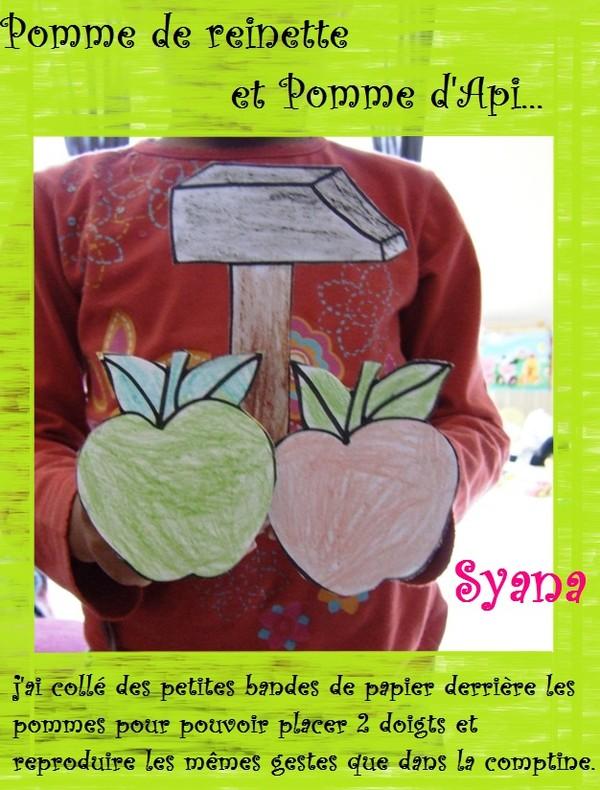 Pomme de reinette et pomme d 39 api comptine gestes - Pomme de reinette et pomme d api tapis tapis rouge ...