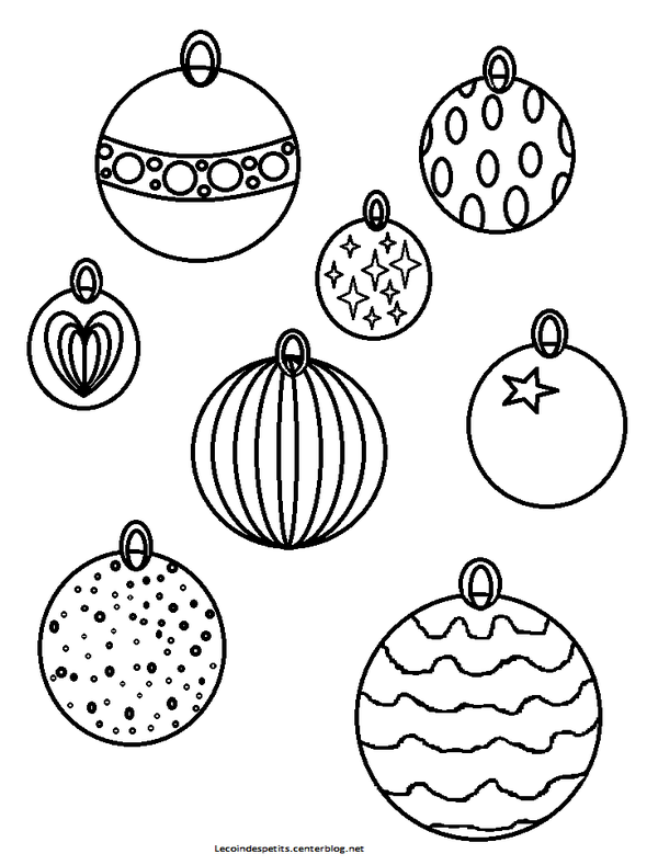 Coloriages de noel - Coloriage boule noel ...