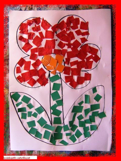 Mosa que d 39 une fleur avec colle faite maison - Colle faite maison ...
