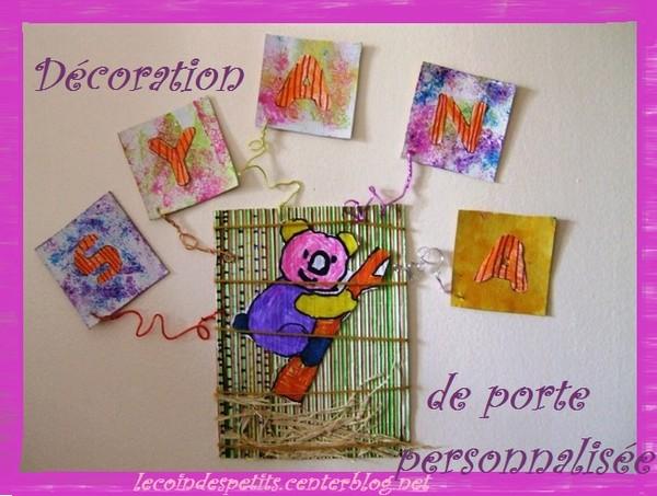 D coration de porte avec pr nom centerblog for Decoration porte prenom