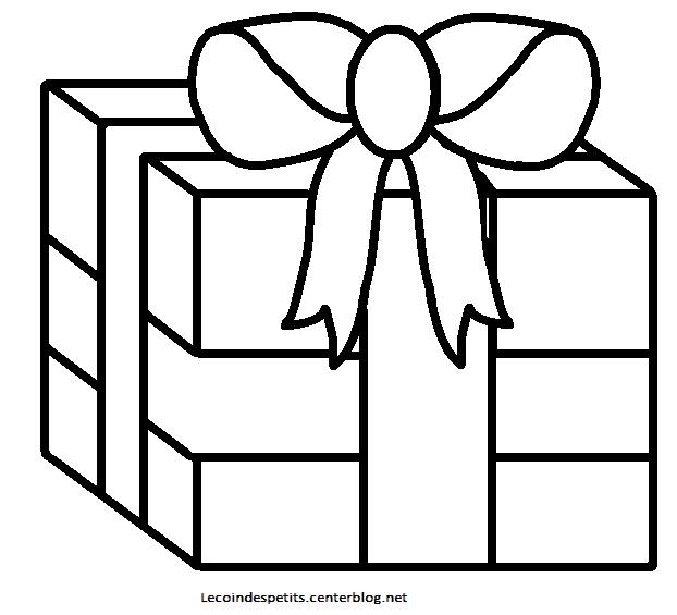 Coloriage cadeau de no l - Cadeau de noel gratuit ...