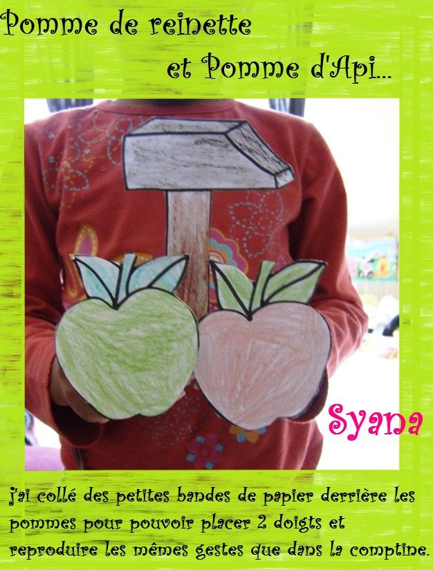 Chansons - Pomme de reinette et pomme d api tapis tapis rouge ...