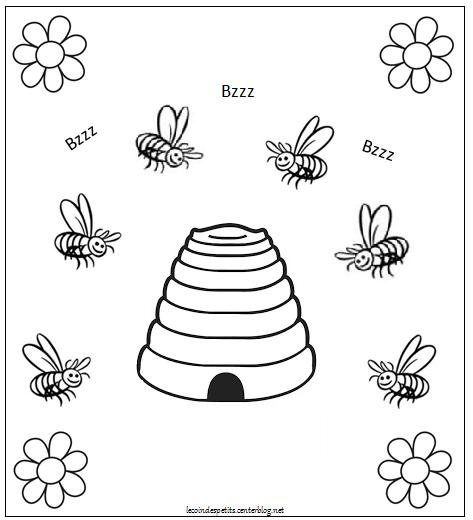 Le printemps page 2 - Dessin de ruche d abeille ...