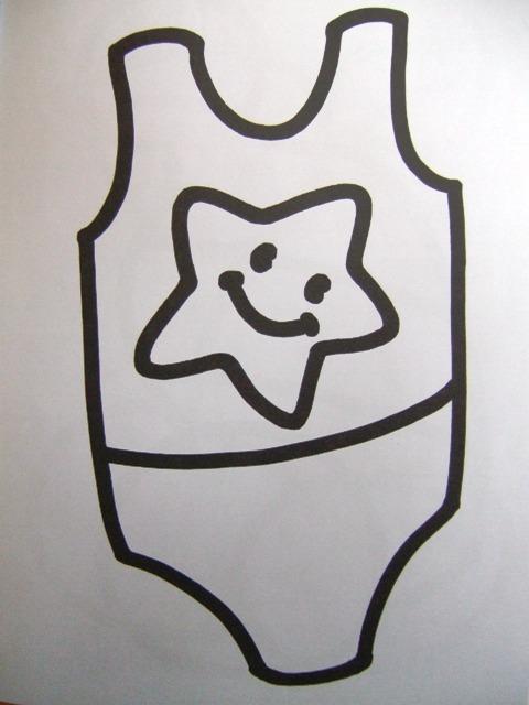 Coloriage maillot de bain - Dessin de maillot de bain ...