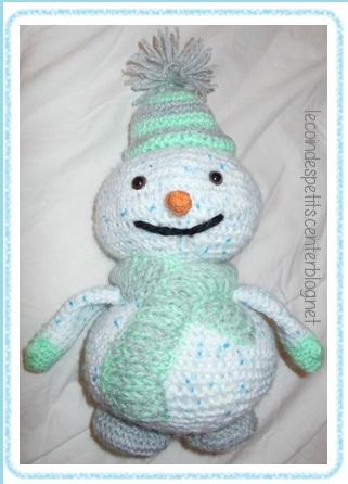 Bricolages et activites pour enfants - Bonhomme de neige au crochet ...